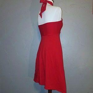 b62daf101d52 American Apparel Dresses - American Apparel red convertible halter dress sz  S